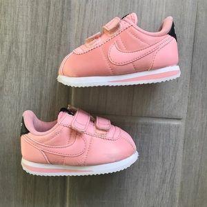 Nike Cortez bleached pink satin infant 5C